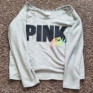 Pink Victoria Secret sweatpant and shirt